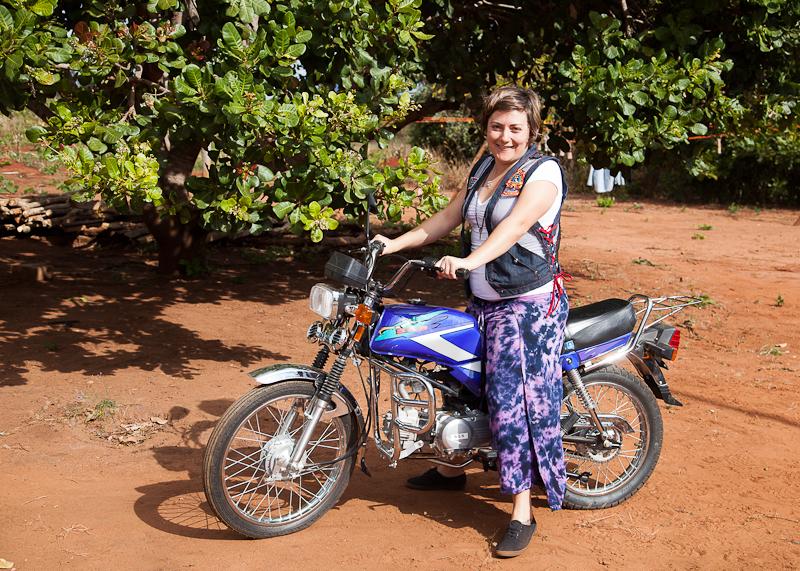 Melissa and motorbike