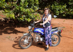 Melissa and motorbike
